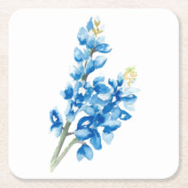 Bluebonnets 4 square paper coaster