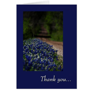 Bluebonnets and a Country Road thank you card