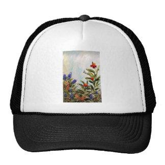 Bluebonnets and Canna Lilies Trucker Hats