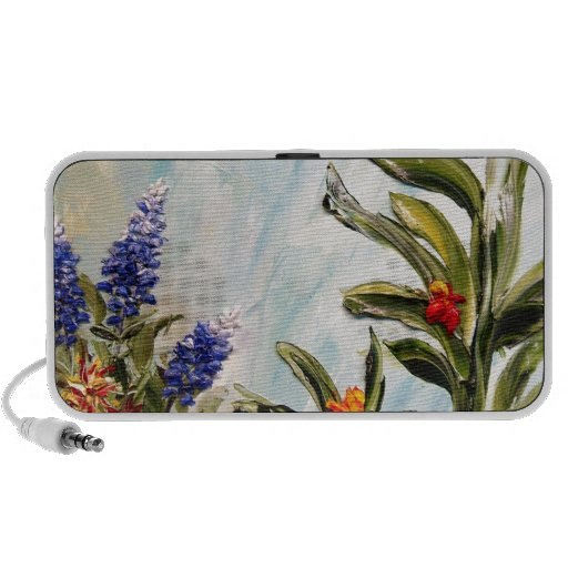 Bluebonnets and Canna Lilies iPhone Speaker