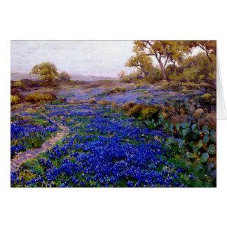 Bluebonnets at Twilight, North of San Antonio Card