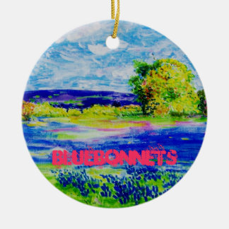 bluebonnets ceramic ornament
