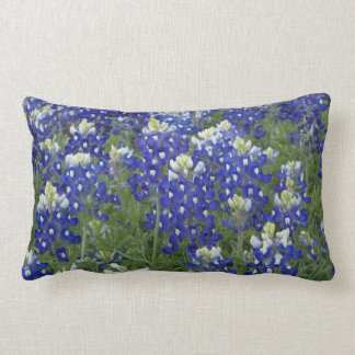 Bluebonnets Field Texas State Flower Lumbar Pillow