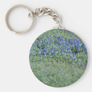 Bluebonnets In Texas Basic Round Button Keychain