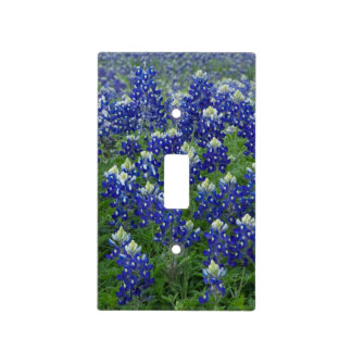 Bluebonnets Photo Light Switch Cover