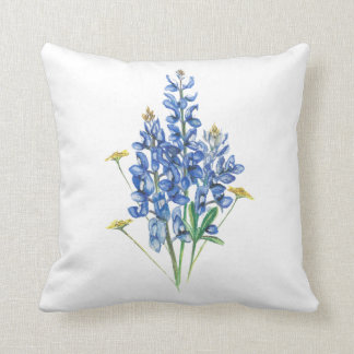Bluebonnets Throw Pillow