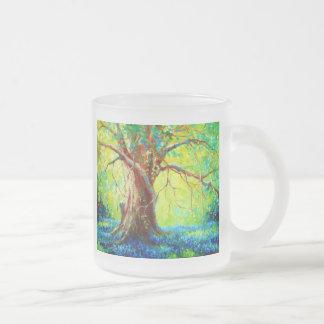Bluebonnets Under The Oak 10 Oz Frosted Glass Coffee Mug