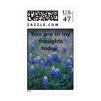 Bluebonnets, You are in my thoughts today. Stamp