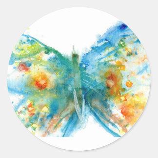 bluebutterfly.jpg classic round sticker