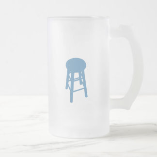 Bluechair Chronicles Frosted Glass Beer Mug