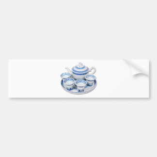 BlueChinaTeapot071410 Bumper Sticker