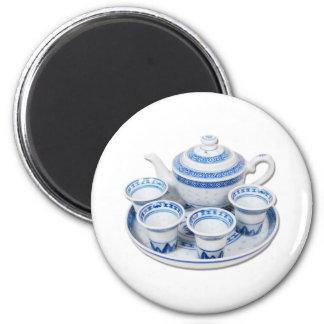 BlueChinaTeapot071410 2 Inch Round Magnet