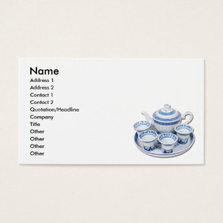 BlueChinaTeapot, Name, Address 1, Address 2, Co... Business Card