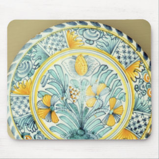 Bluedash' Delftware charger, Lambeth pottery Mouse Pad