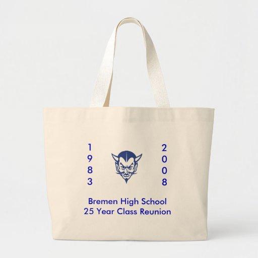 BlueDevil, alta clase Reun del año School25 de Bre Bolsa Tela Grande