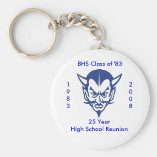 BlueDevil, BHS Class of '83, 25 Ye... - Customized Basic Round Button Keychain