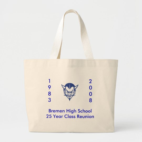 BlueDevil, Bremen High School25 Year Class Reun... Large Tote Bag