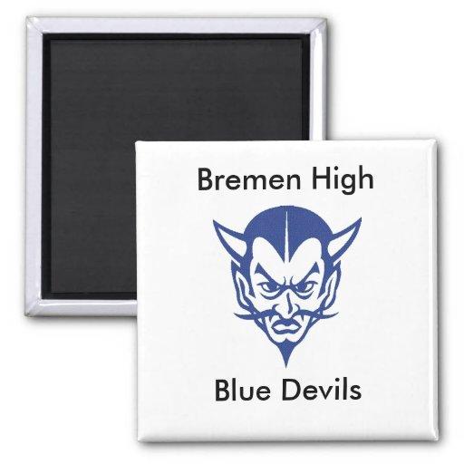 BlueDevil, CLASE, Bremen Hig… - Modificado para re Imán Cuadrado