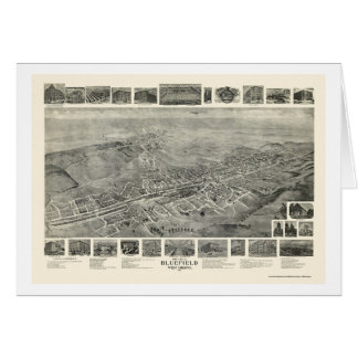 Bluefield, WV Panoramic Map - 1911 Card