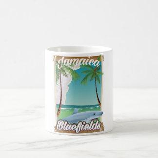 Bluefields, Jamaica beach vacation poster. Coffee Mug
