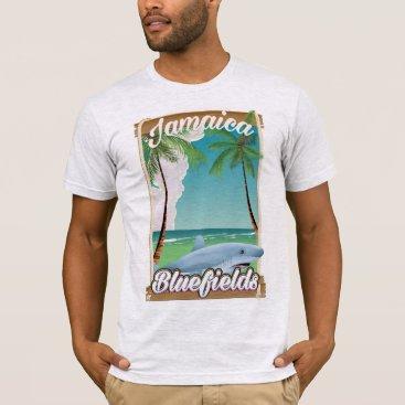 bartonleclaydesign Bluefields, Jamaica beach vacation poster. T-Shirt