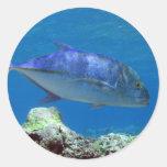 Bluefin Trevally Pegatinas Redondas