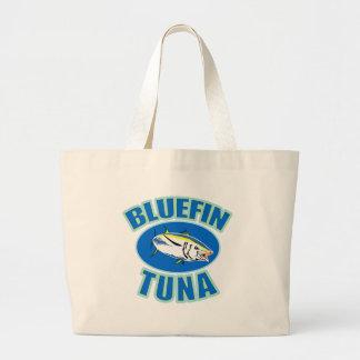 bluefin tuna fish front canvas bag
