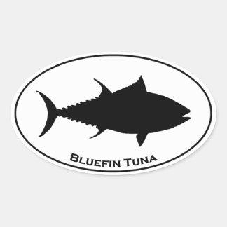 Bluefin Tuna Icon Oval Sticker