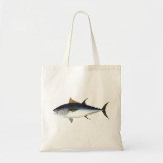 Bluefin Tuna illustration Tote Bags