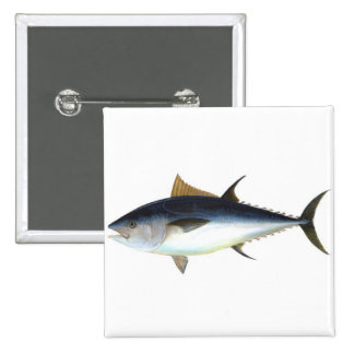 Bluefin Tuna illustration Pinback Buttons