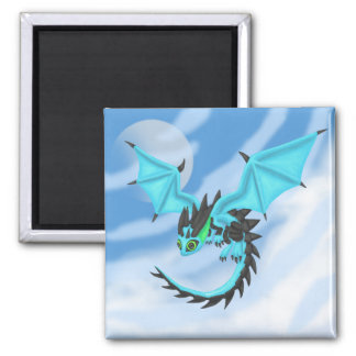 BlueFire Dragon 2 Inch Square Magnet