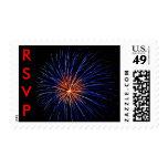 BlueFireworks, RSVP Postage Stamp