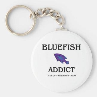 Bluefish Addict Basic Round Button Keychain