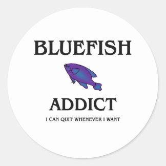 Bluefish Addict Classic Round Sticker