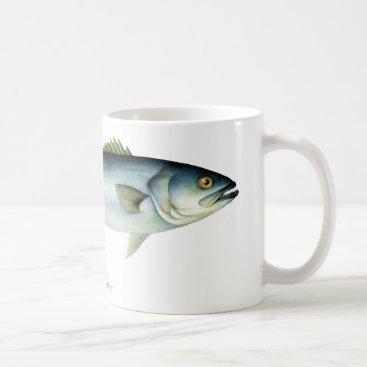 Coffee Themed Bluefish Fish Coffee Mug