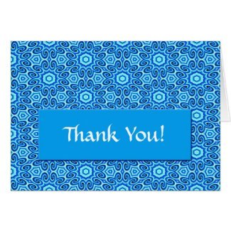 BlueFlowers Thank You Card card