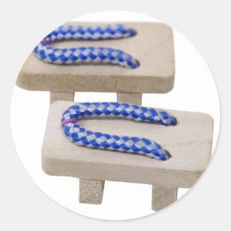 BlueGetaSandals042310 Round Sticker