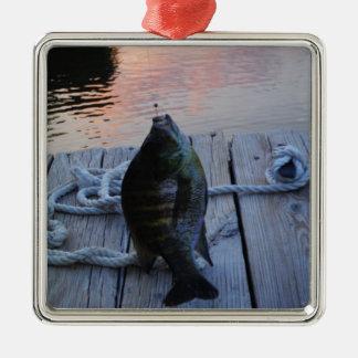 Bluegill at sunset Lake Arrowhead Metal Ornament