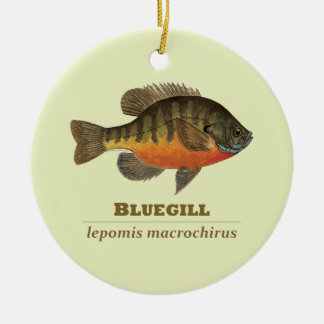 Bluegill Bream Fishing Ceramic Ornament