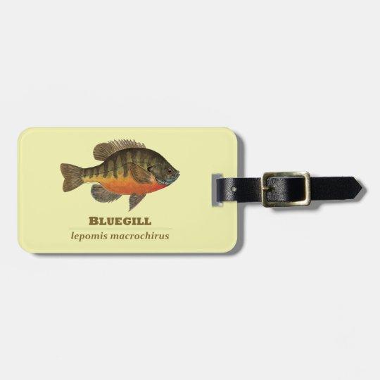Bluegill Bream Fishing Luggage Tag