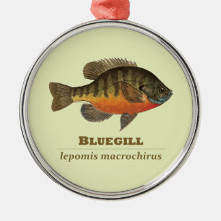 Bluegill Bream Fishing Metal Ornament
