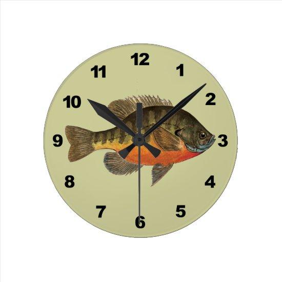 Bluegill Bream Round Clock