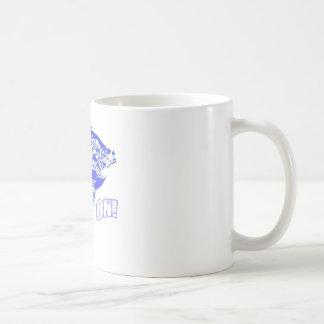 Bluegill fish on blue coffee mug