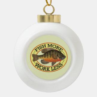 Bluegill Fishing Ceramic Ball Christmas Ornament