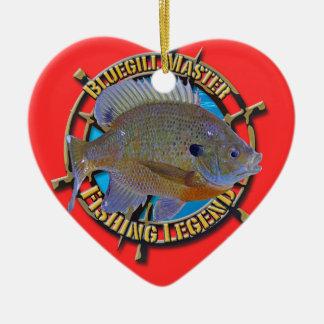 Bluegill fishing legend ceramic ornament