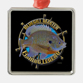 Bluegill fishing legend metal ornament