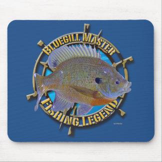 Bluegill fishing legend mouse pad