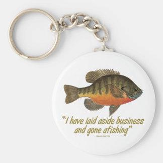 Bluegill Fishing Quote Keychain