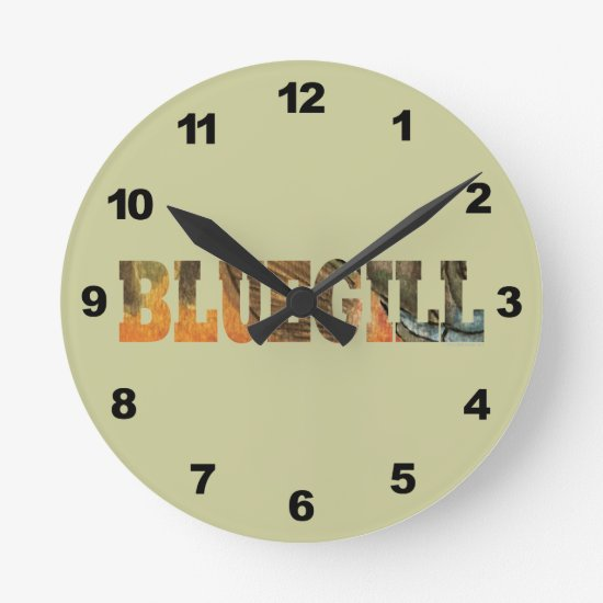 Bluegill Fishing Round Clock