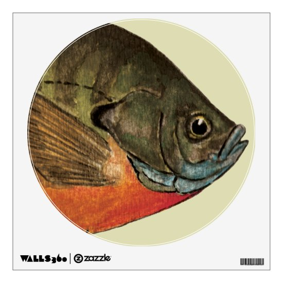 Bluegill Fishing Wall Sticker